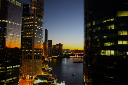 sunrise in Brisbane